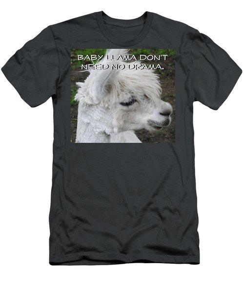Baby Llama Men's T-Shirt (Slim Fit) by Ellen Henneke