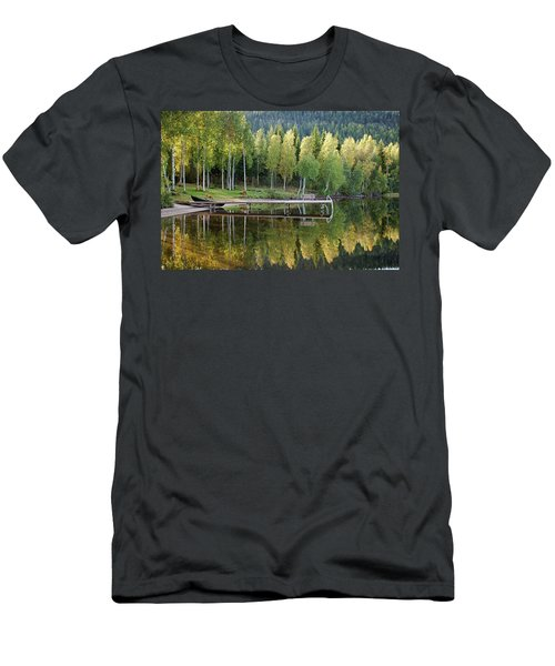 Birches And Reflection Men's T-Shirt (Slim Fit)