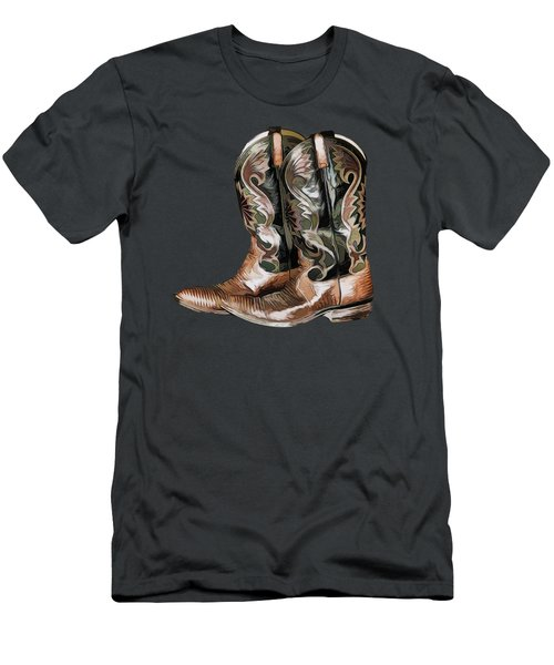 Cowboy Boots Men's T-Shirt (Athletic Fit)