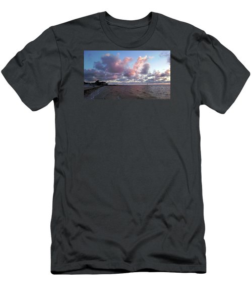 Men's T-Shirt (Slim Fit) featuring the photograph Florida Sunset by Vicky Tarcau