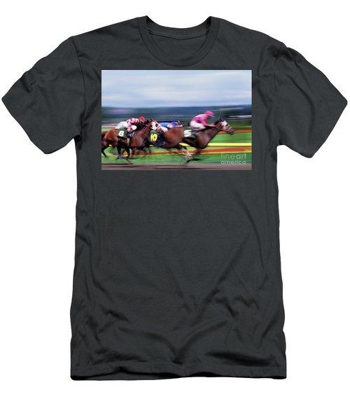 Horse Race Men's T-Shirt (Athletic Fit)