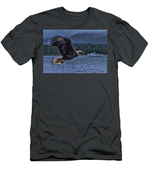 Men's T-Shirt (Slim Fit) featuring the digital art In Flight. by Timothy Latta