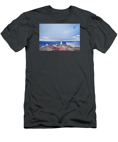 Men's T-Shirt (Athletic Fit) featuring the photograph Lighthouse by Artistic Panda