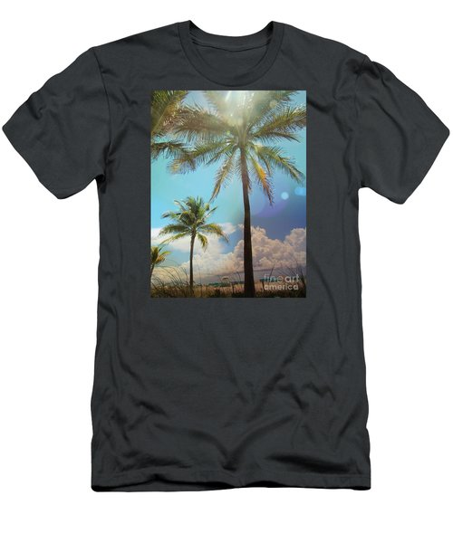 Men's T-Shirt (Slim Fit) featuring the photograph Miami Palm Trees,  by France Laliberte