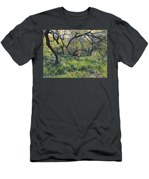Morning Walk Trees Men's T-Shirt (Athletic Fit)