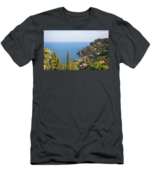 French Mediterranean Coastline Men's T-Shirt (Athletic Fit)