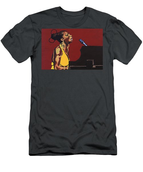 Nina Simone Men's T-Shirt (Athletic Fit)