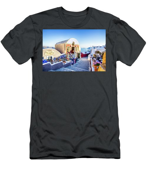 Oia, Santorini - Greece Men's T-Shirt (Athletic Fit)