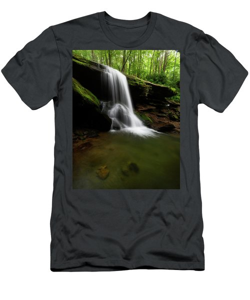Otter Falls - Seven Devils, North Carolina Men's T-Shirt (Athletic Fit)