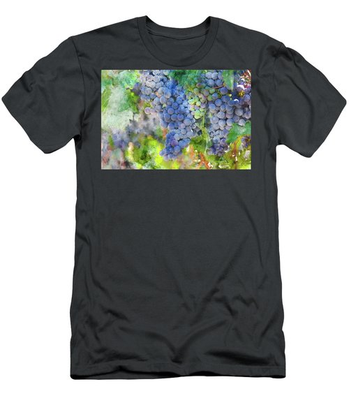 Red Wine Grapes On The Vine Men's T-Shirt (Athletic Fit)