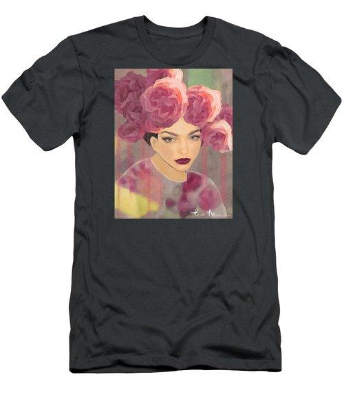 Men's T-Shirt (Slim Fit) featuring the digital art Rose by Lisa Noneman