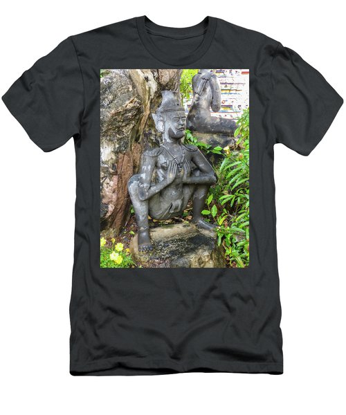 Statue Depicting A Thai Yoga Pose At Wat Pho Temple Men's T-Shirt (Athletic Fit)