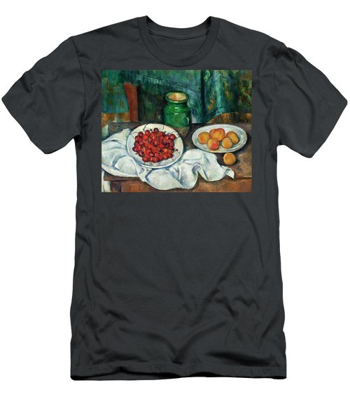Still Life With Cherries And Peaches Men's T-Shirt (Athletic Fit)