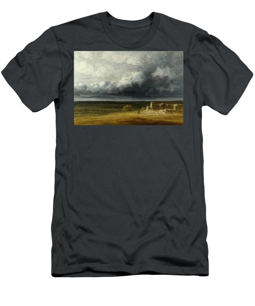 Stormy Landscape With Ruins On A Plain Men's T-Shirt (Athletic Fit)