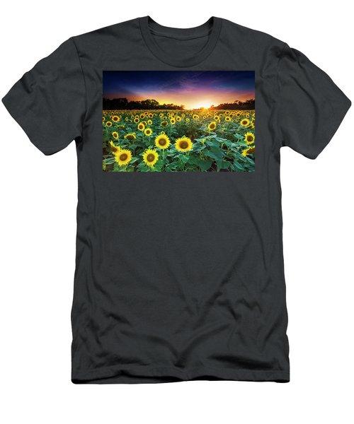 Men's T-Shirt (Slim Fit) featuring the photograph 3 Suns by Edward Kreis