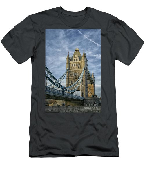 Tower Bridge London Men's T-Shirt (Slim Fit) by Patricia Hofmeester
