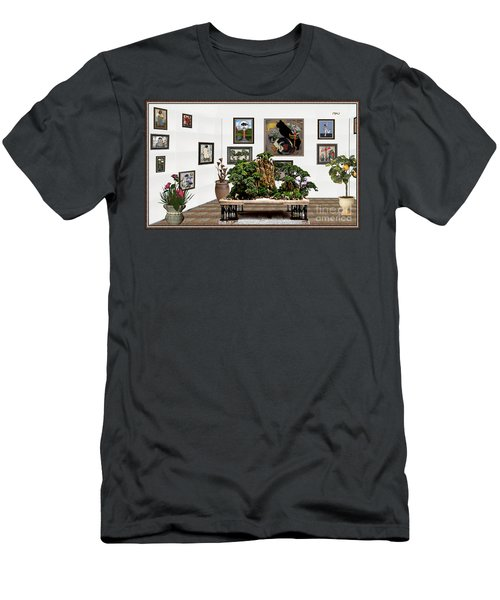 Virtual Exhibition -  Bonsai 16 Men's T-Shirt (Slim Fit) by Pemaro