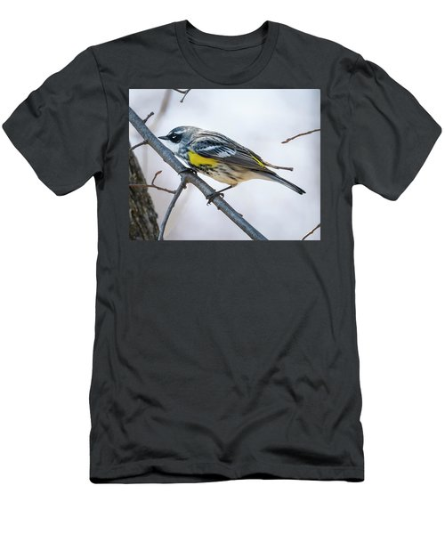 Men's T-Shirt (Athletic Fit) featuring the photograph Yellow-rumped Warbler  by Ricky L Jones