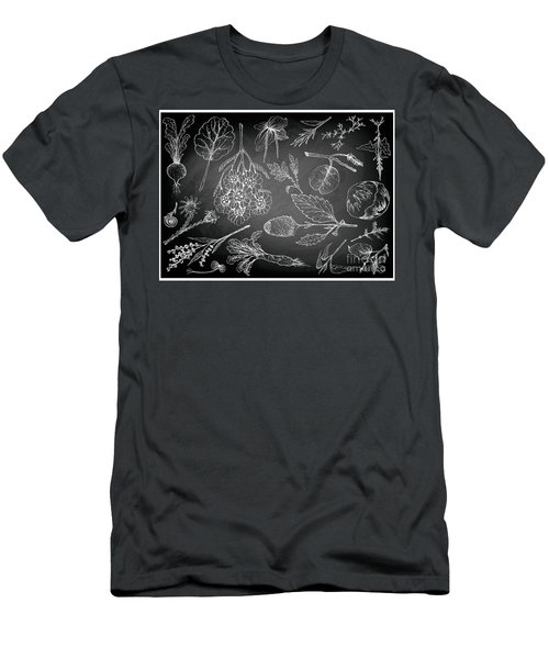 Hand Drawn Of Leafy And Salad Vegetable Men's T-Shirt (Athletic Fit)