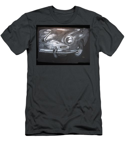Men's T-Shirt (Athletic Fit) featuring the painting 356 Porsche Front by Richard Le Page