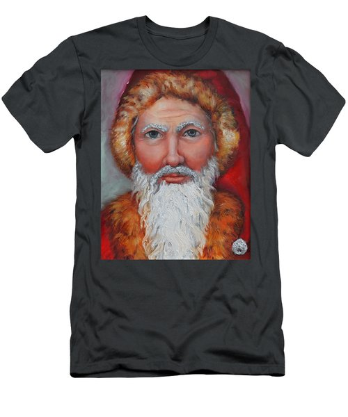 3d Santa Men's T-Shirt (Athletic Fit)