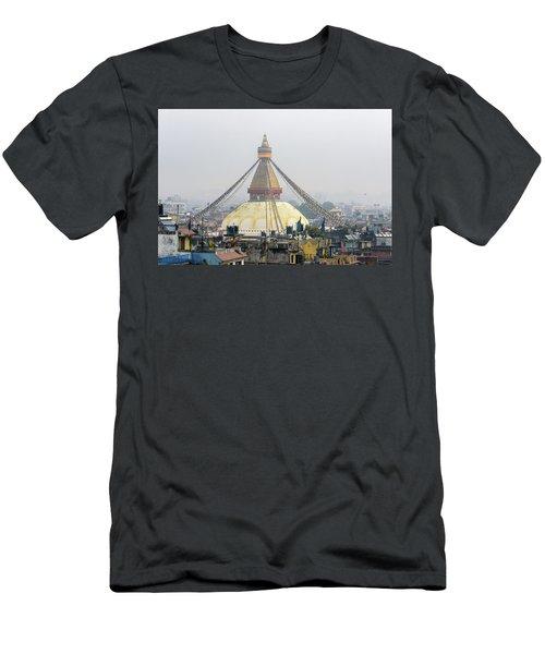 Boudhanath Stupa In Kathmandu Men's T-Shirt (Athletic Fit)