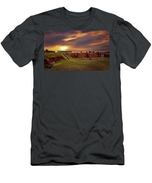 Men's T-Shirt (Athletic Fit) featuring the photograph Fort Clinch by Peter Lakomy