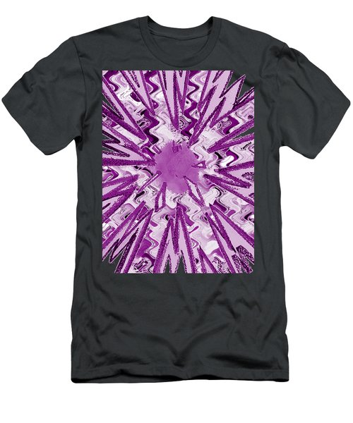 Goodluck Holy Purple  Star Sparkles   Men's T-Shirt (Athletic Fit)