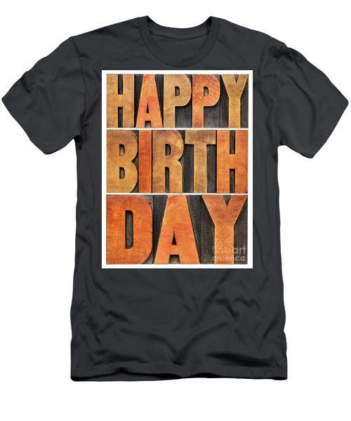 Happy Birthday Greeting Card Men's T-Shirt (Athletic Fit)
