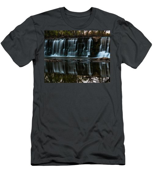 Kansas Waterfall Men's T-Shirt (Slim Fit) by Jay Stockhaus