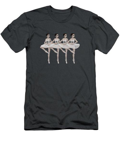 4 Little Swans Men's T-Shirt (Athletic Fit)