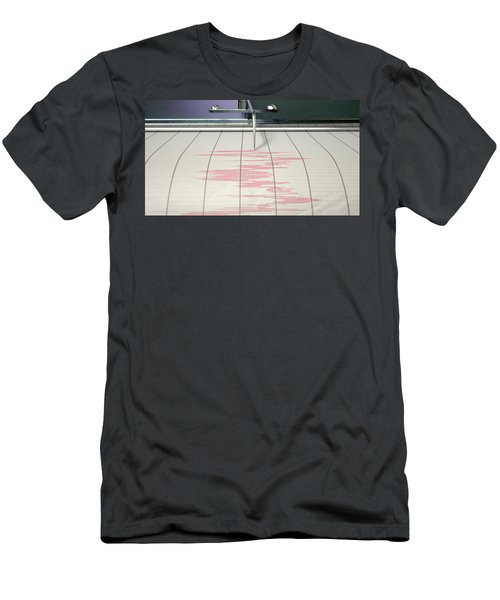 Seismograph Earthquake Activity Men's T-Shirt (Athletic Fit)