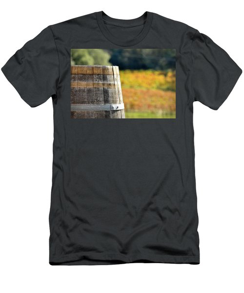 Wine Barrel In Autumn Men's T-Shirt (Athletic Fit)