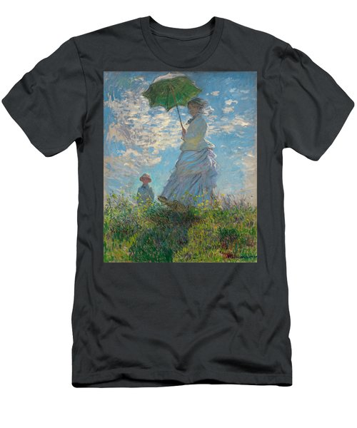 Woman With A Parasol - Madame Monet And Her Son Men's T-Shirt (Athletic Fit)