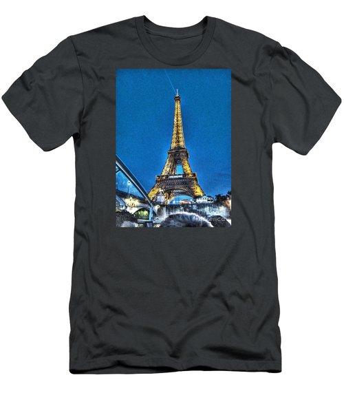 Men's T-Shirt (Slim Fit) featuring the pyrography Yury Bashkin Paris by Yury Bashkin