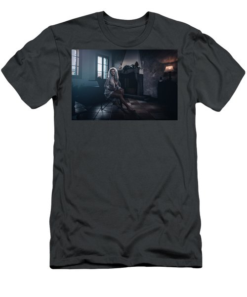 Men's T-Shirt (Athletic Fit) featuring the photograph Tu M'as Promis by Traven Milovich