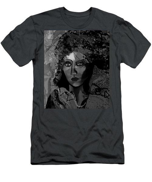 Men's T-Shirt (Slim Fit) featuring the digital art 455 - Dark Dreamer by Irmgard Schoendorf Welch