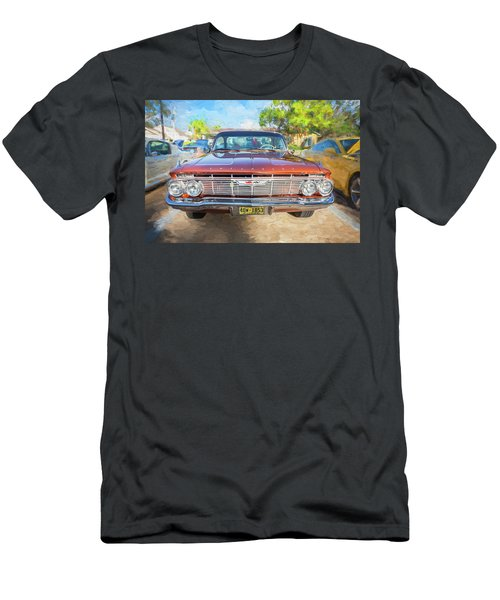 Men's T-Shirt (Slim Fit) featuring the photograph 1961 Chevrolet Impala Ss  by Rich Franco
