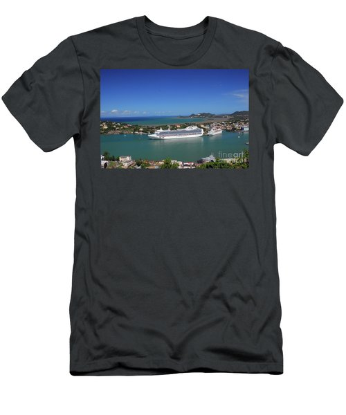 Men's T-Shirt (Athletic Fit) featuring the photograph Cruise Ship In Port by Gary Wonning