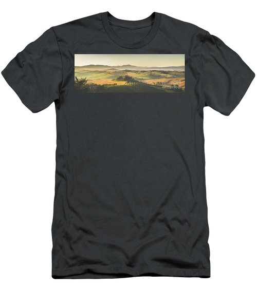 Golden Tuscany Men's T-Shirt (Slim Fit) by JR Photography