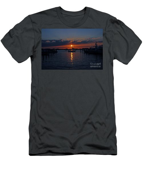 Men's T-Shirt (Slim Fit) featuring the photograph 5- Sailfish Marina Sunset In Paradise by Joseph Keane