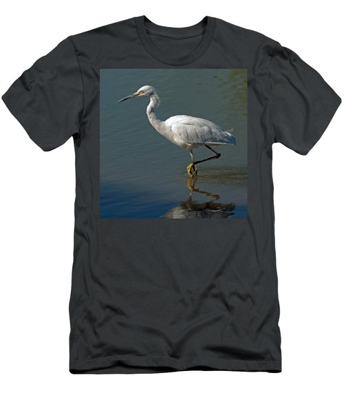 Snowy Egret Men's T-Shirt (Slim Fit) by Tam Ryan