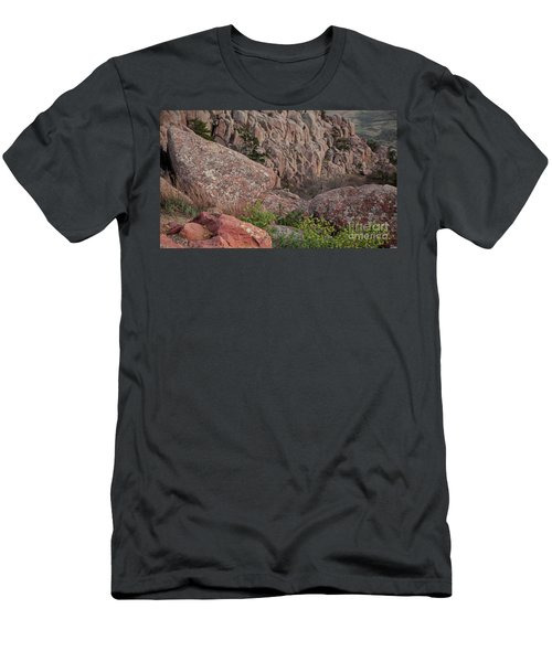 Men's T-Shirt (Slim Fit) featuring the photograph Wichita Mountains by Iris Greenwell
