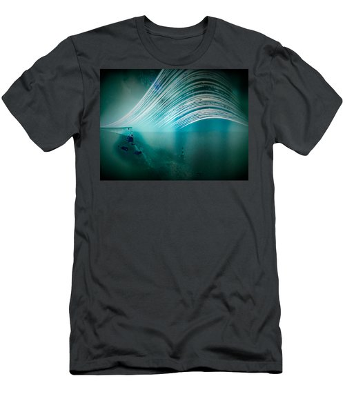 6 Month Exposure Overlooking The Beachy Head Lighthouse Men's T-Shirt (Athletic Fit)
