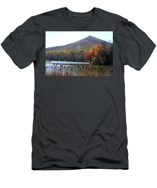 View Of Abbott Lake And Sharp Top In Autumn Men's T-Shirt (Athletic Fit)