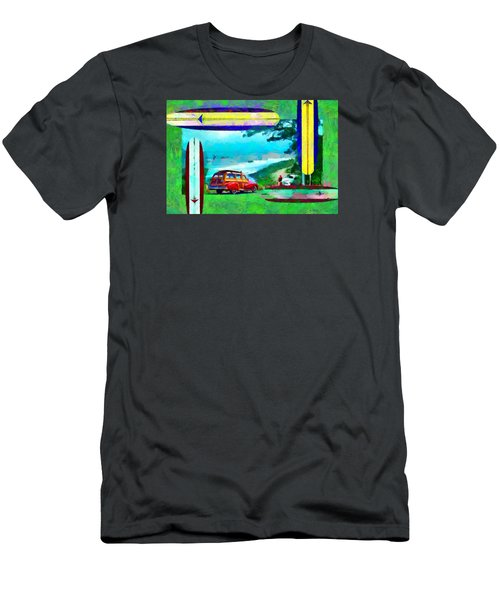 60's Surfing Men's T-Shirt (Slim Fit) by Caito Junqueira