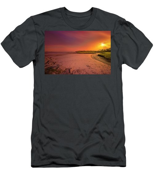 Men's T-Shirt (Athletic Fit) featuring the photograph Big Talbot Island by Peter Lakomy