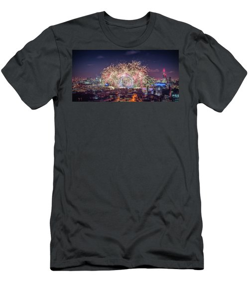 Happy New Year London Men's T-Shirt (Athletic Fit)
