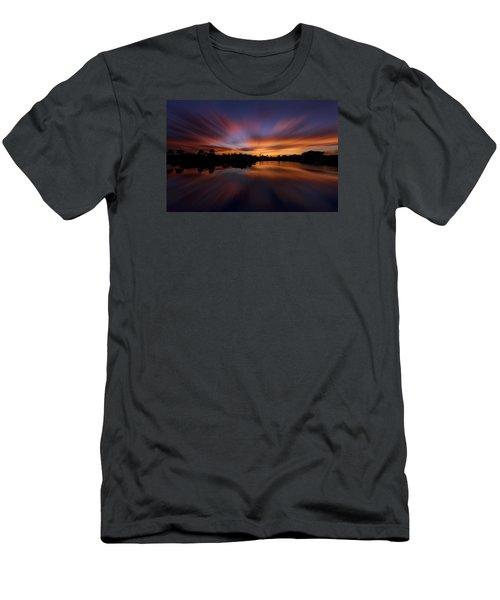 Sunrise At Naples, Florida Men's T-Shirt (Slim Fit) by Peter Lakomy