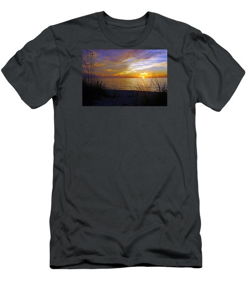 Sunset At Delnor Wiggins Pass State Park In Naples, Fl Men's T-Shirt (Athletic Fit)